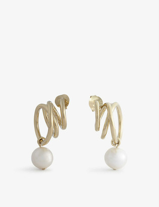 COMPLETEDWORKS Flow 14ct yellow gold-plated sterling silver earrings