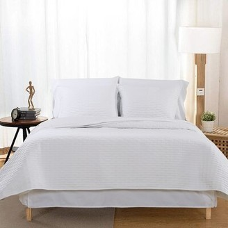 Zipcode Design Hortencia Luxury Quilted 2 Piece Sham Set Size: King, Color: Stark White