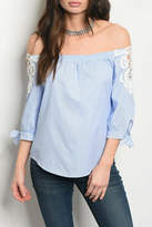 Available Blue White Top