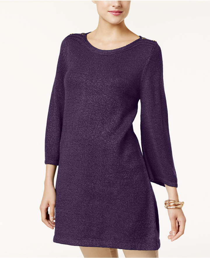 Karen Scott Boat-Neck Marled Sweater Tunic, Created for Macy's
