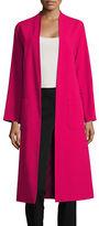 Helene Berman Solid Collarless Coat