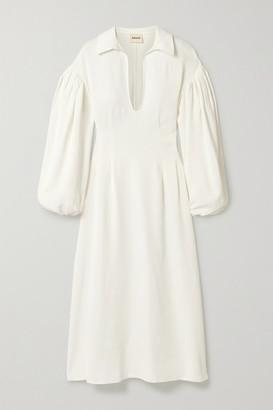 KHAITE Farrely Crepe Midi Dress - White