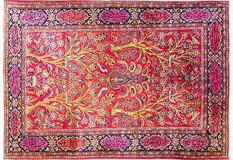 """One Kings Lane Vintage 4'6"""" x 6'8"""" Antique Persian Kashan Rug - Eli Peer Oriental Rugs - blue/red"""