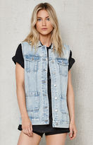 PacSun Oversized Denim Vest