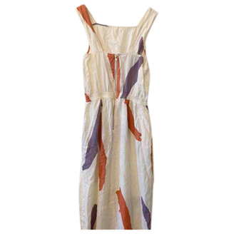 L.F. Markey Beige Cotton Dresses