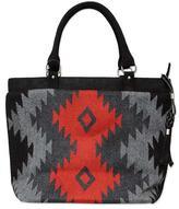 Women's Geometric Alpaca Wool Handbag, 'Cuzco Stars'