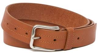 Tommy Bahama Topstitched Leather Buckle Belt