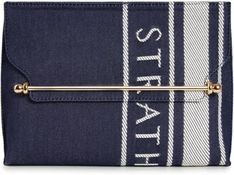 Strathberry Stylish Denim Shoulder Bag
