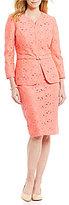 John Meyer Lace 2-Piece Skirt Suit
