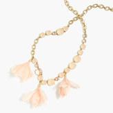 J.Crew Soft petal-drop necklace