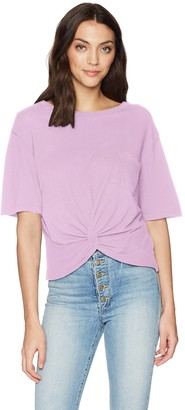 LAmade Women's Short Sleeve Relaxed fit Pocket Twist Front tee