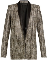 Haider Ackermann Depompadour shawl-lapel metallic-tweed jacket
