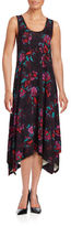 Context Floral Asymmetrical Maxi Dress