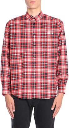 MSGM cotton check shirt