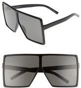 Saint Laurent Women's Betty 68Mm Square Sunglasses - Black/ Grey