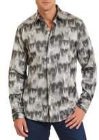 Robert Graham Ghostriders Long Sleeve Woven Shirt Classic Fit.