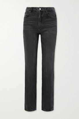 Balenciaga High-rise Straight-leg Jeans - Black