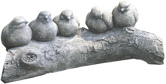 Campania International Birds on a Log - Greystone