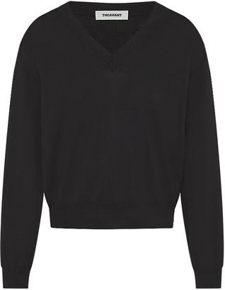 Theavant V-Neck Merino Sweater In Black