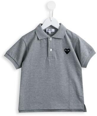 Comme Des Garçons Play Kids Heart Patch Polo Shirt