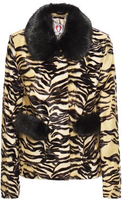 Shrimps Duke Tiger-print Faux Fur Jacket