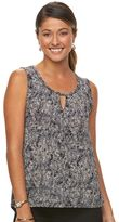 Dana Buchman Women's Keyhole High-Low Tank