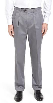 Nordstrom Classic Smartcare Supima Cotton Pleated Dress Pants
