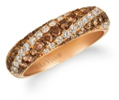 LeVian Chocolate Diamonds (1/15 ct. t. w.) Ring in 14k Rose Gold
