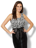New York & Co. 7th Avenue - Lace-Overlay Sleeveless Top