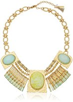 lonna & lilly Pacific Tides Worn Gold-Tone Large Stone Frontal Necklace