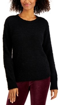 Style&Co. Style & Co Teddy Boucle Sweater, Created for Macy's