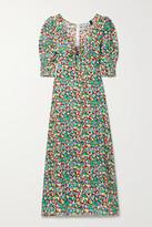 Thumbnail for your product : Rixo Luisa Printed Crepe Midi Dress - Blue