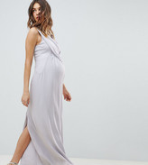 Asos DESIGN Maternity Cowl Front Maxi Dress