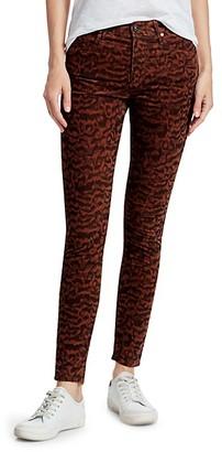 AG Jeans Farrah Print Corduroy Skinny Jeans