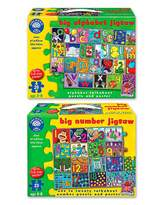 Fashion World Pack of 2 Numbers and Letters Jigsaws
