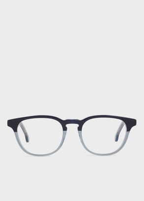 Paul Smith Deep Navy On Warm Grey 'Abbott' Spectacles