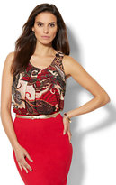 New York & Co. 7th Avenue Design Studio - Chiffon-Overlay Sleeveless Top - Paisley Print