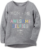 Carter's Mom + Me = Awesome Selfies Graphic-Print Cotton T-Shirt, Little Girls (4-6X) and Big Girls (7-16)