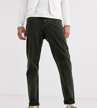 ASOS DESIGN Tall classic rigid jeans in green overdye