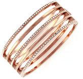 Vince Camuto On Point Pave Bracelets Rose gold plated base metal Glass Hinge Bangle Bracelet
