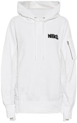 Nike X Sacai Cotton-Blend Jersey Hoodie