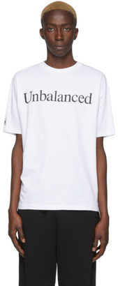 Aries White New Balance Edition Unbalanced T-Shirt