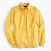 J.Crew Gathered popover shirt in microgingham
