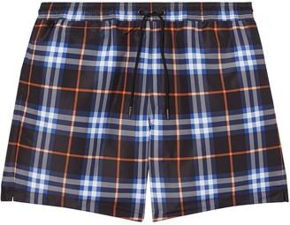 Burberry checkered drawcord swim shorts