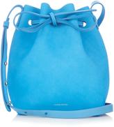 Mansur Gavriel Leather-lined Mini suede bucket bag