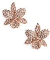Nina Women's Small Orchid Crystal Stud Earrings