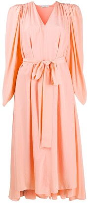 Givenchy Draped Belted Dress