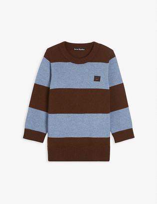 Acne Studios Niamh striped wool-knit jumper 3-10 years