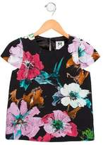 Milly Minis Girls' Floral Print Short Sleeve Top w/ Tags