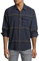 Joe's Jeans Bellowed Plaid Herringbone Shirt